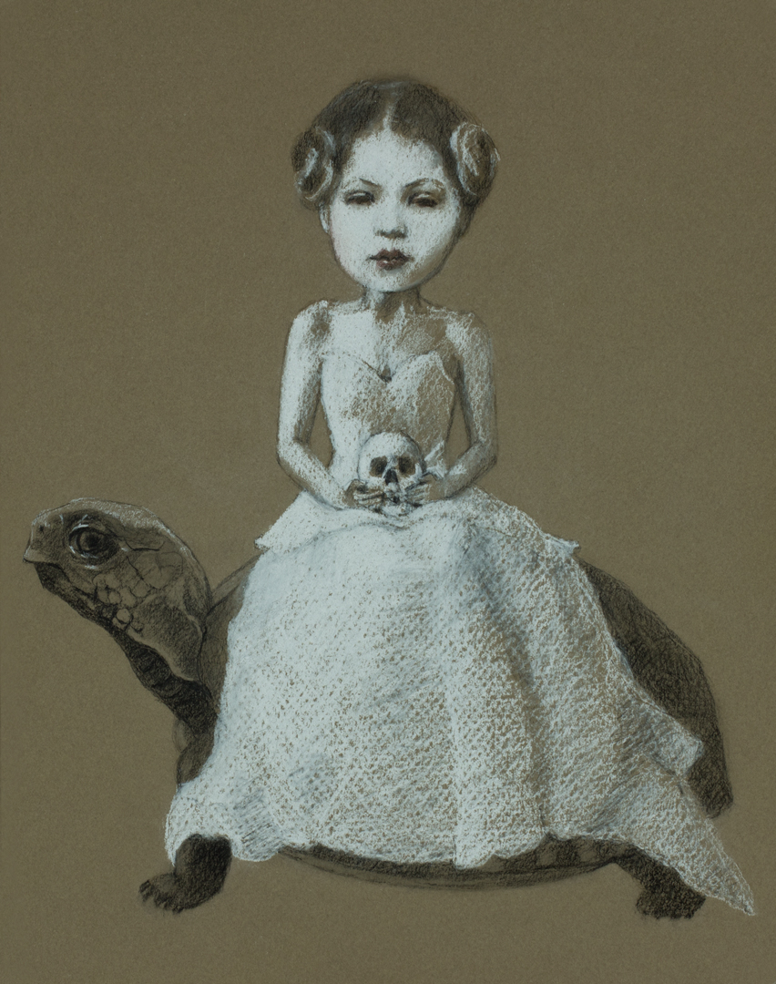 Turtle Girl, drawing