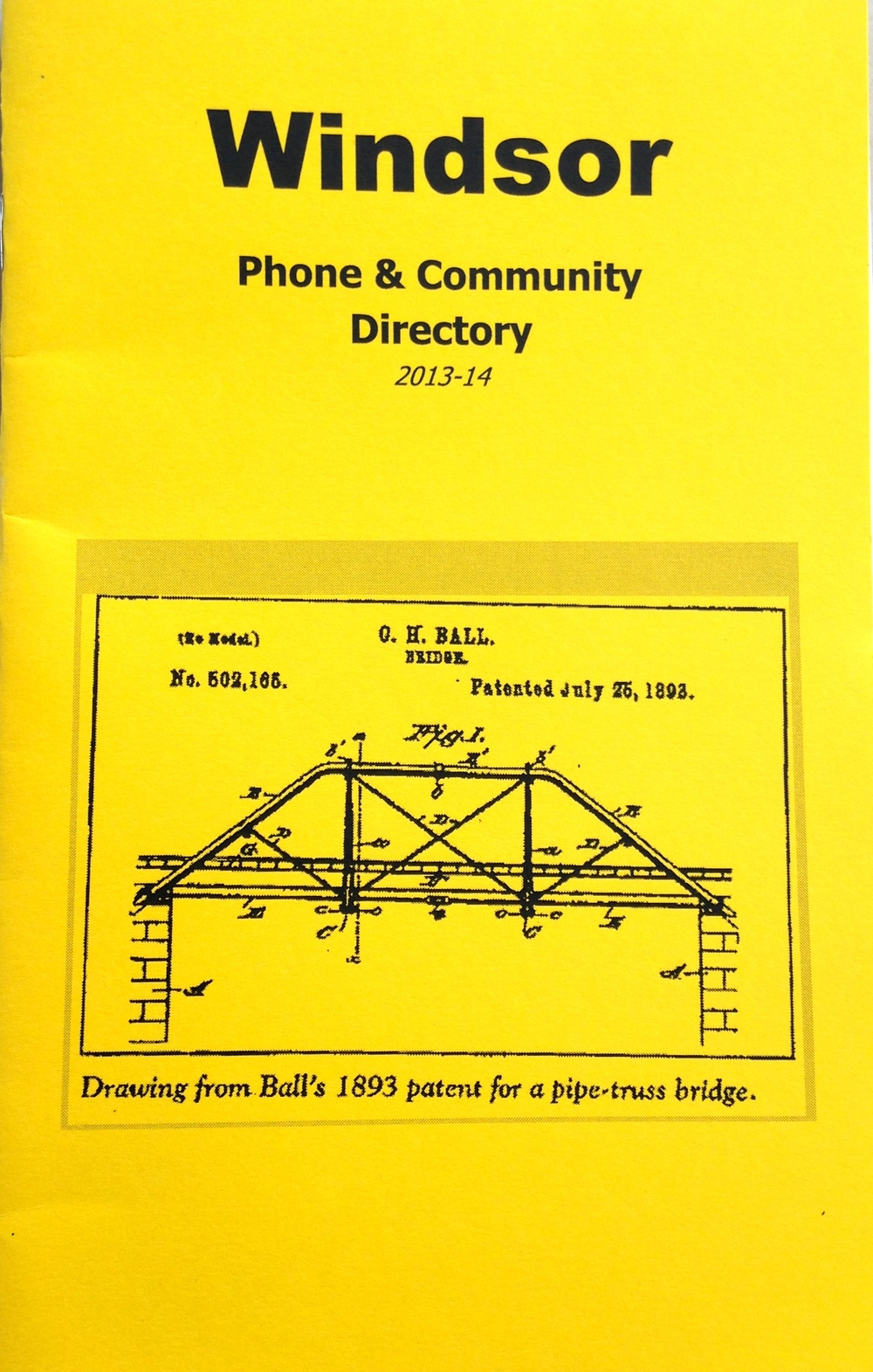 Cover: Patent for Charles H. Ball's Pipe Truss Bridge (c. 1893)