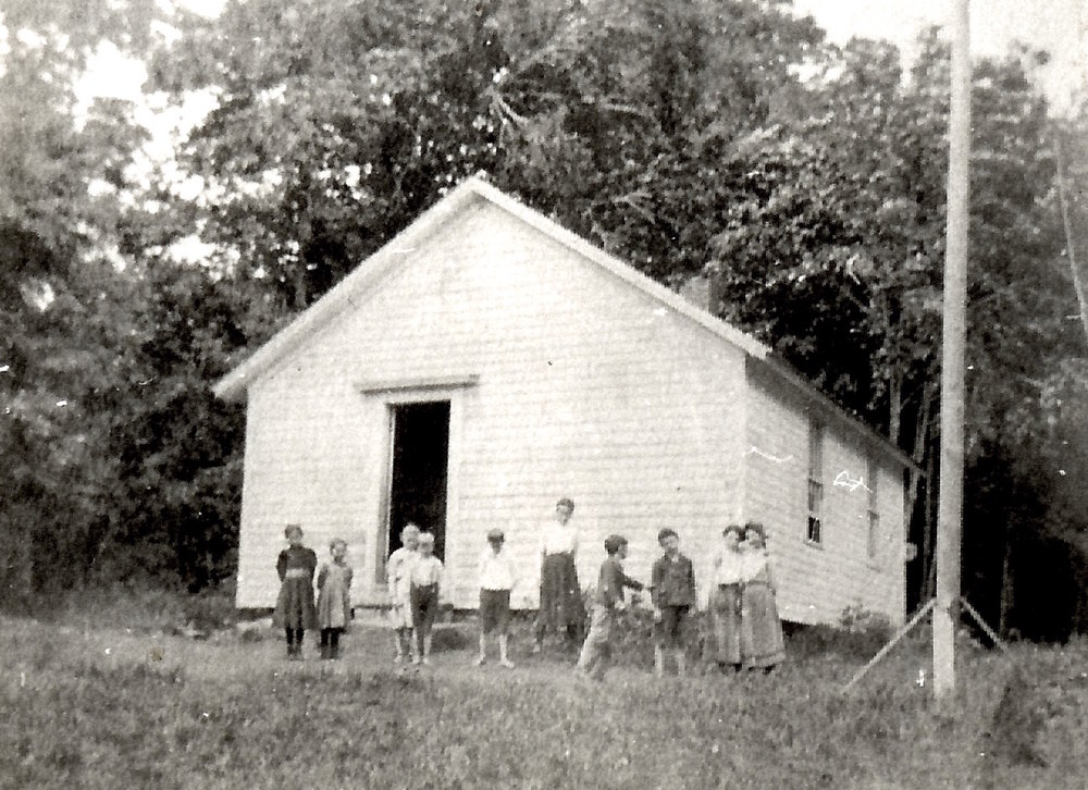 "Another image of Hardscrabble School, also known as #8. Reportedly an early teacher observed it was ""a hard scrabble"" to get there."