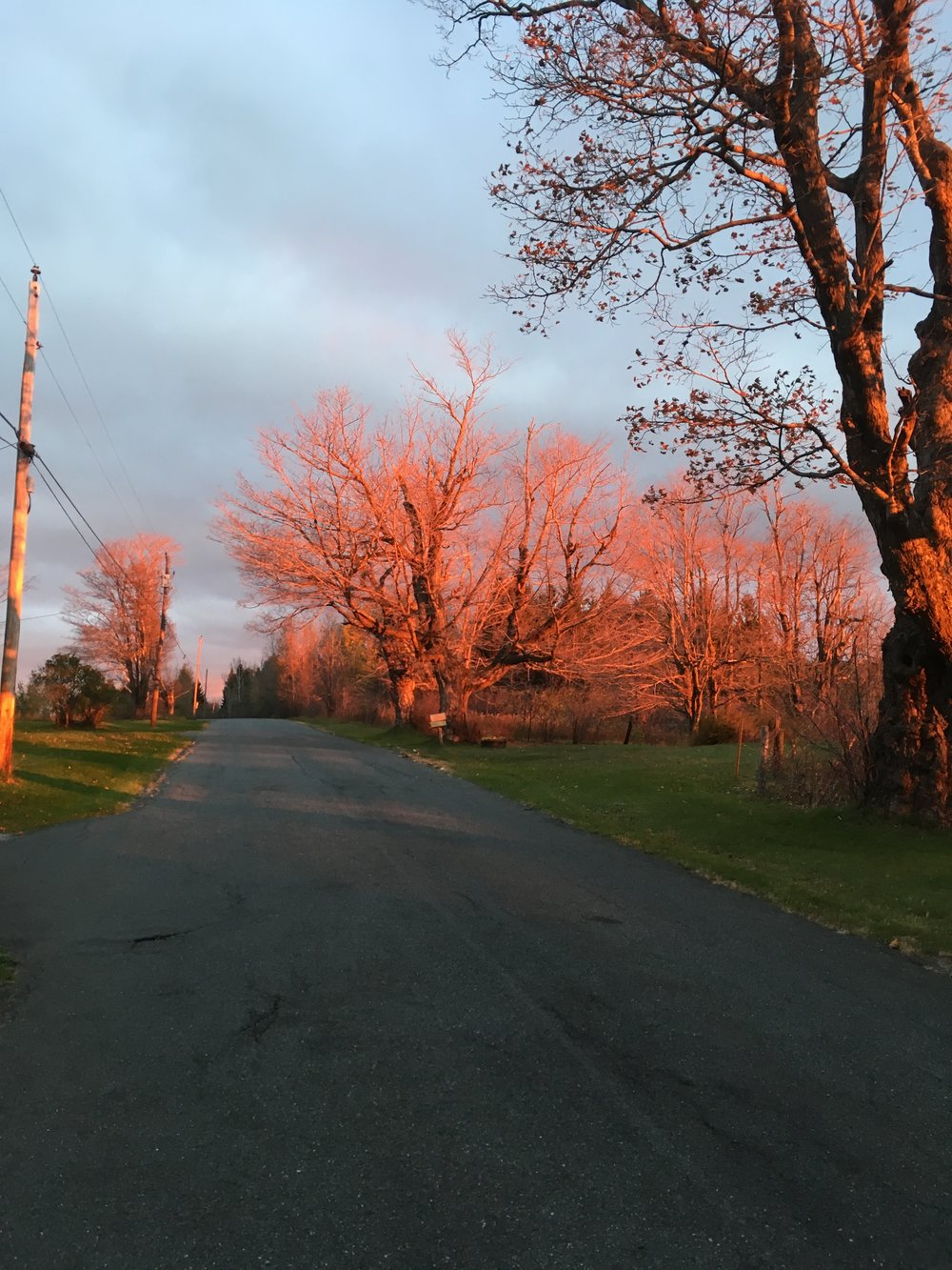 Sunrise, East Windsor Rd, Late October