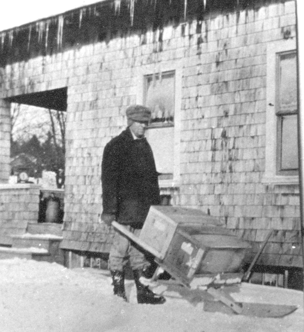 Lucien Ball, one of the builders of the snowmobile described here, in later years.