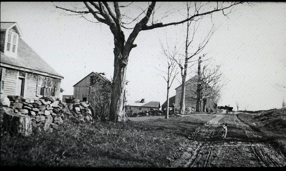 The Butter Bates Homestead, Bates Road (circa 1910?) Photo by C.W. Thompson, courtesy of Adams Historical Society