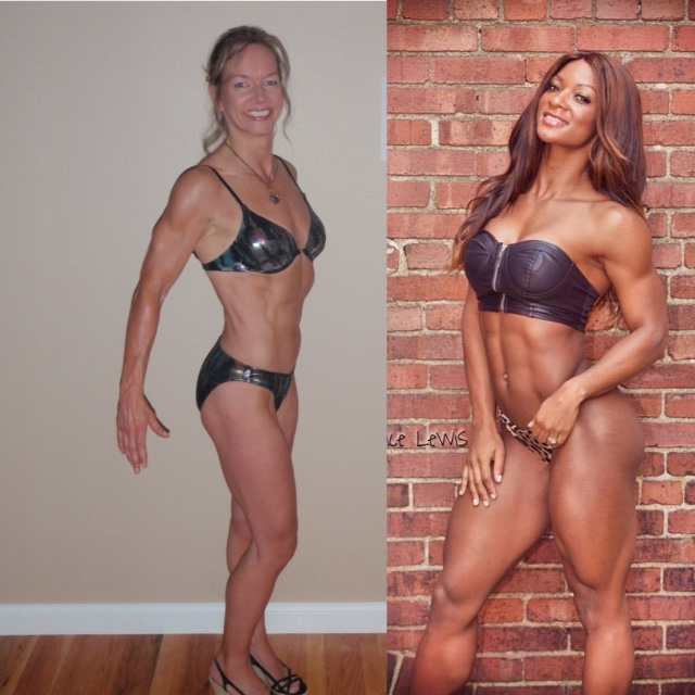 """Jeanne notes Candy Lewis is a big inspiration for this project, having large muscles while retaining a feminine physique. """"I don't expect to look like her by the end of this, but maybe a bit closer..."""""""