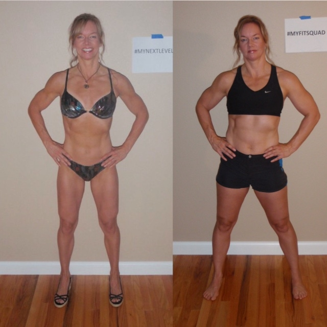 From shredded to muscled - Jeanne, mid September (left)to mid-November (right.)