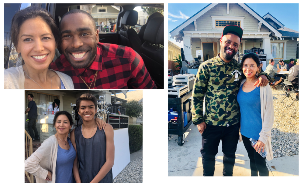 Awe, these men :) - Feeling very luck to have worked with world renown music video director, Taj Stansberry,  along with professional skateboarder, Terry Kennedy and my TV son Avery Davis.