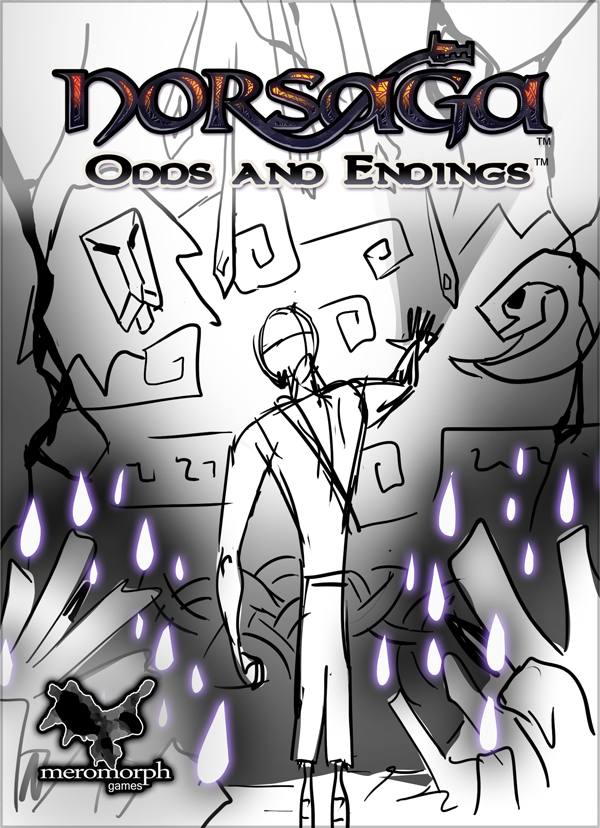 Fourth and final boxart sketch, featuring updated POV, posture, and mural.