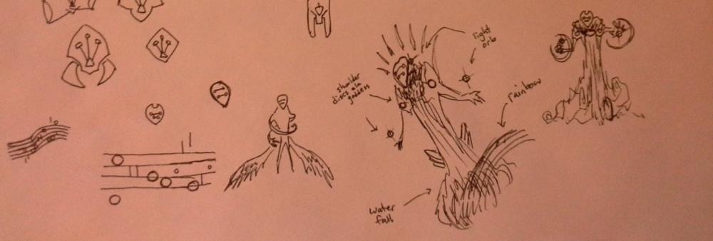 "Donwen ""monster form"" concept explorations."