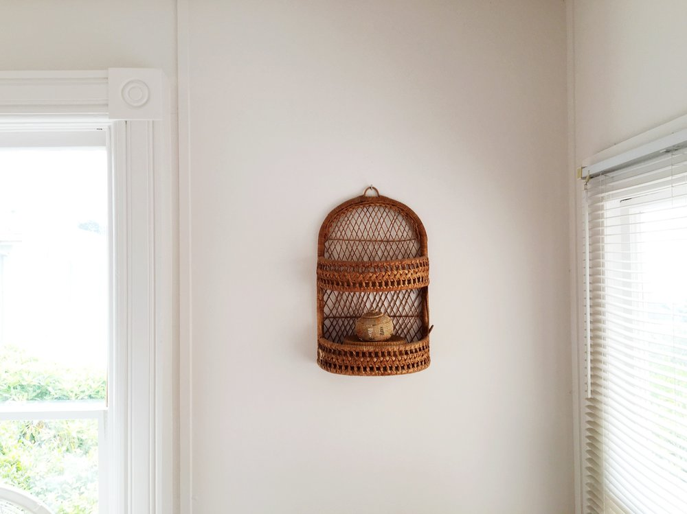 California Bohemian Minimal Basket on the wall