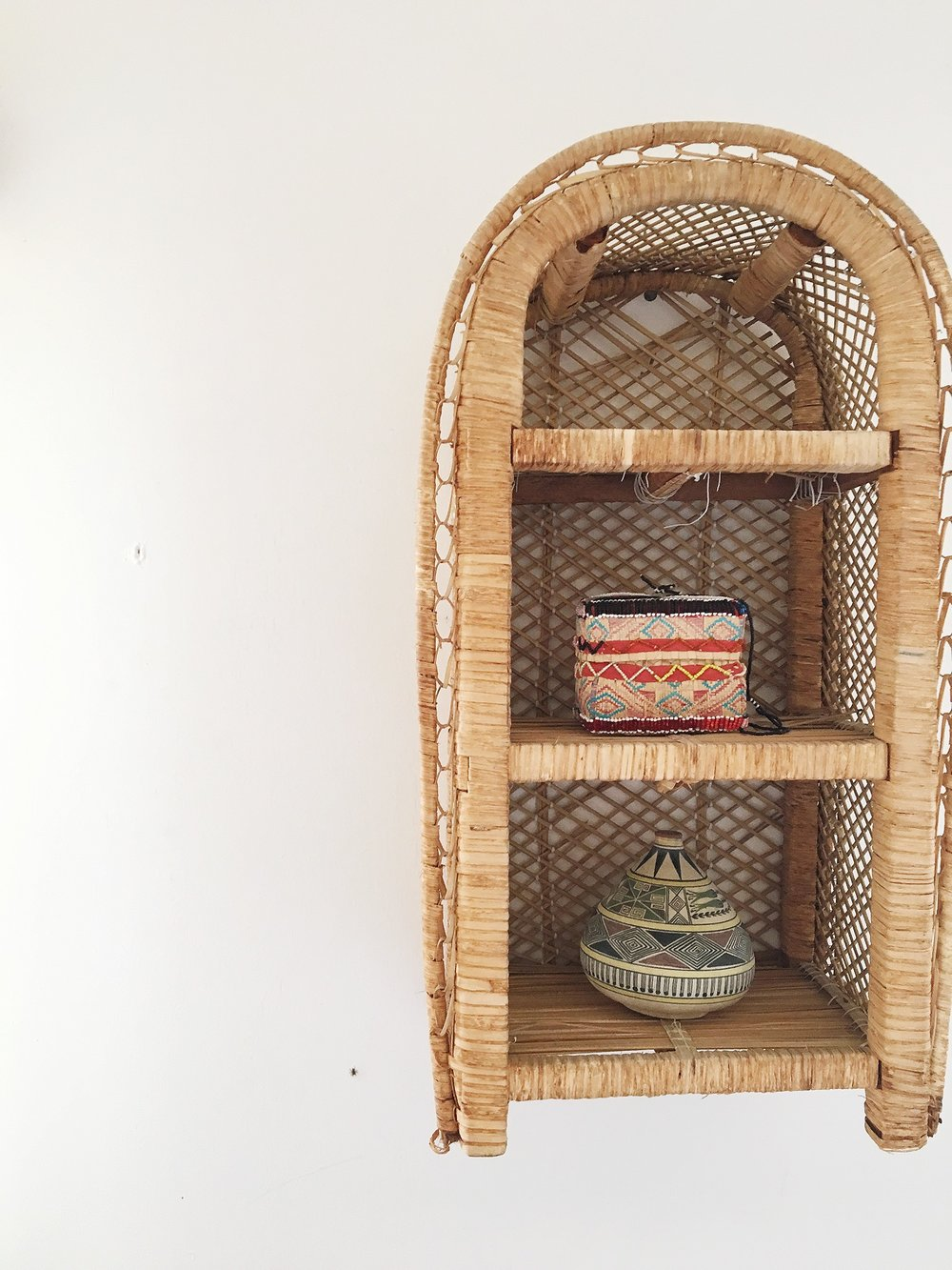 California Boho Modern Style Baskets on walls