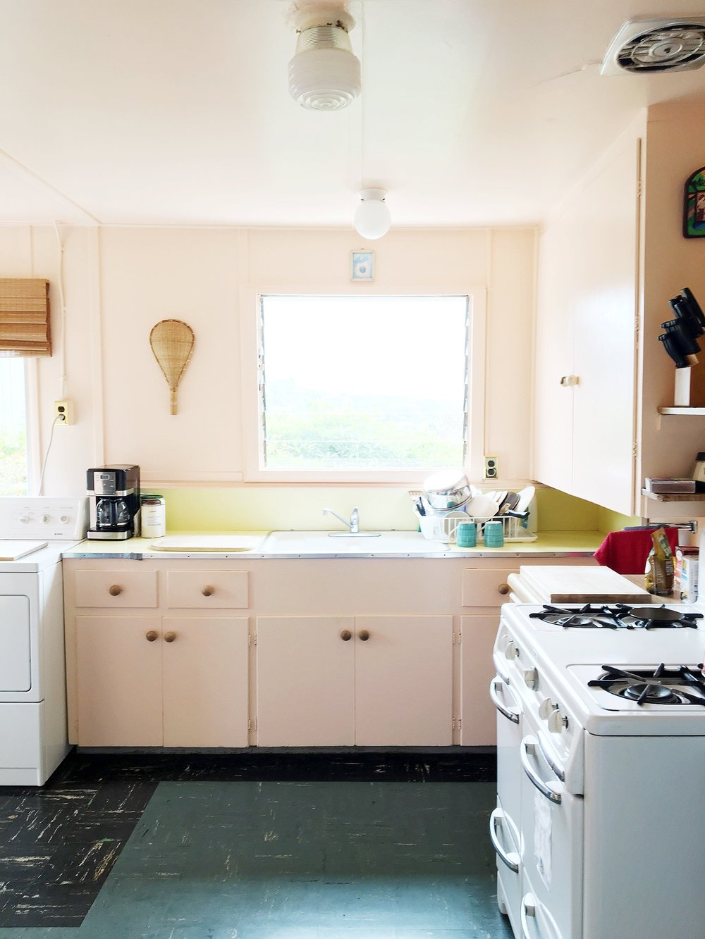 Best California Airbnb Boho Style Beach House Kitchen