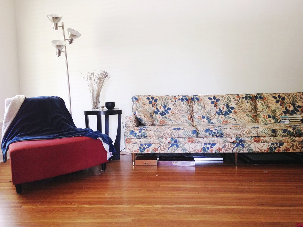 Living Room: New Vintage Floral Sofa