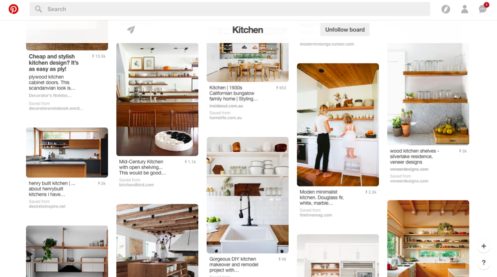 Palmer's kitchen Pinterest board