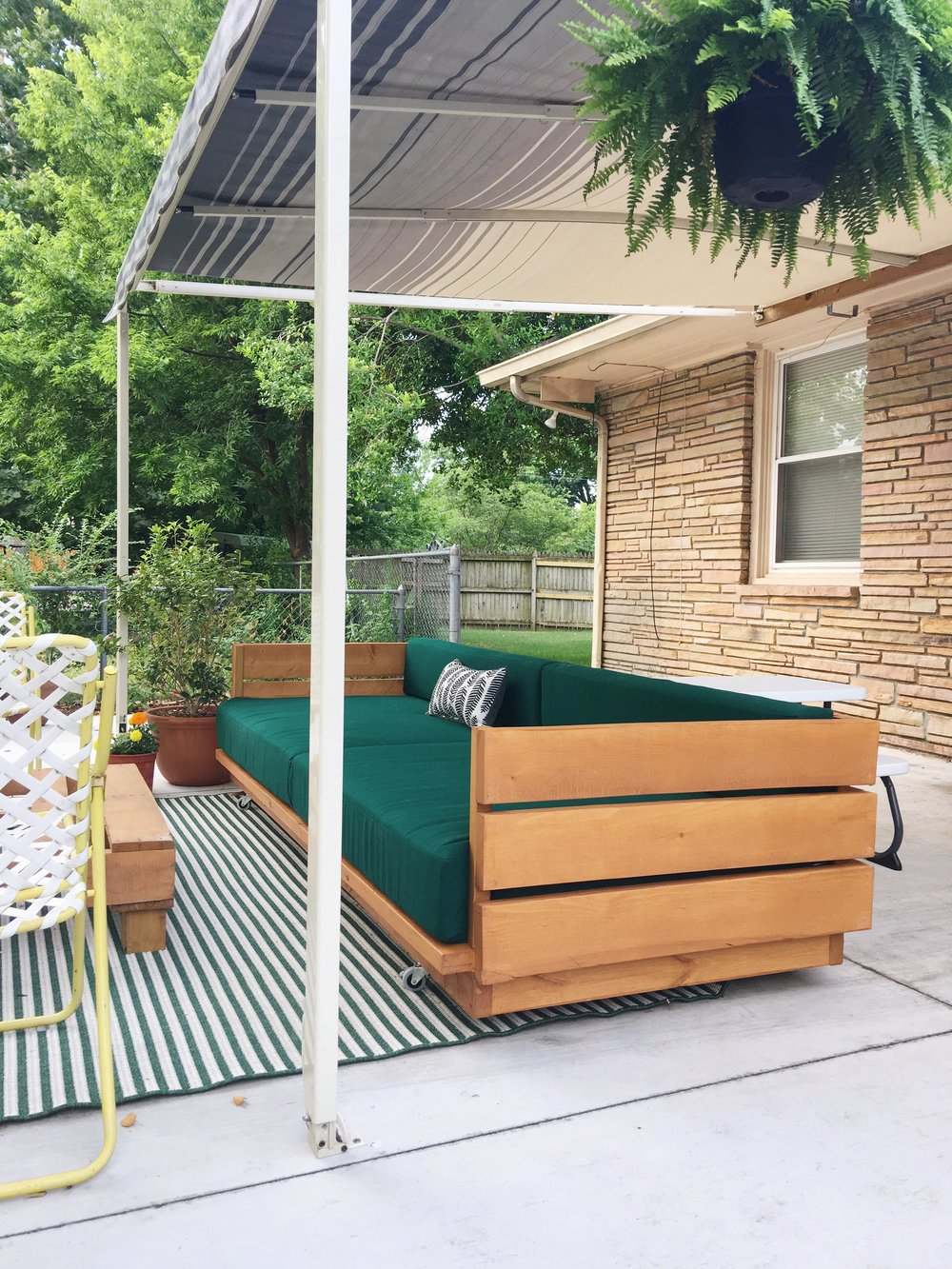 modern diy wooden platform outdoor sofa