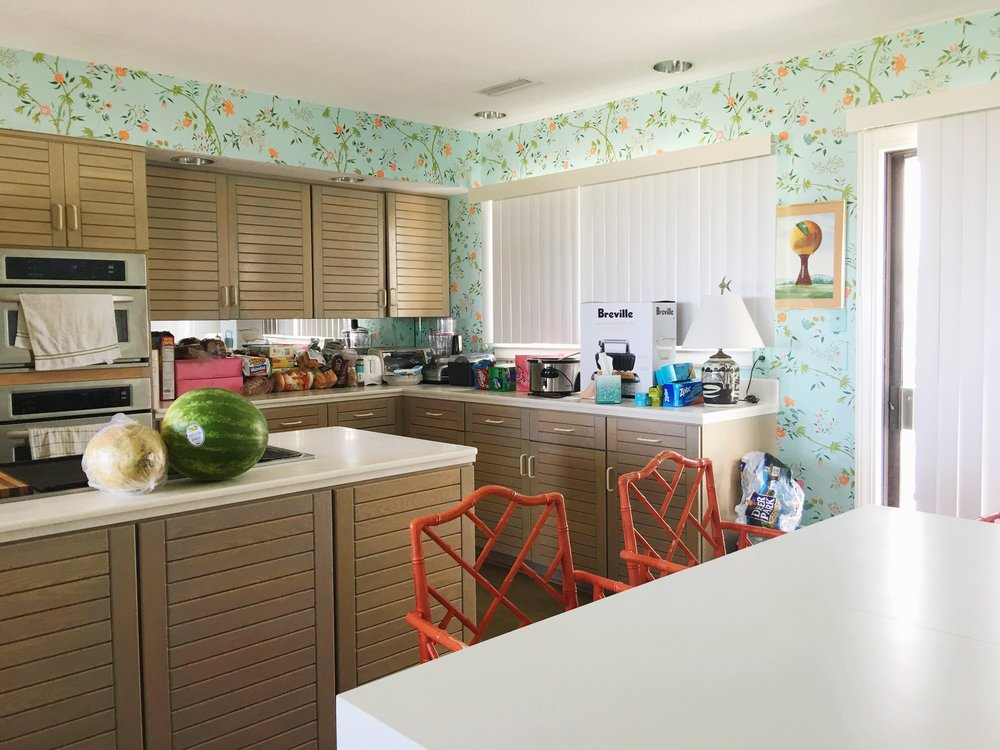 vintage beach house kitchen
