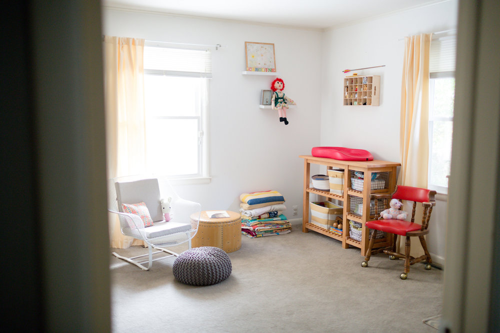 primary color vintage modern nursery