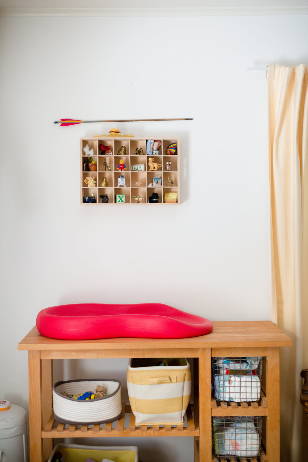 vintage modern primary color nursery