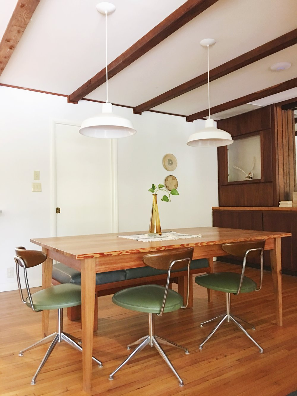 mid century rustic modern dining room