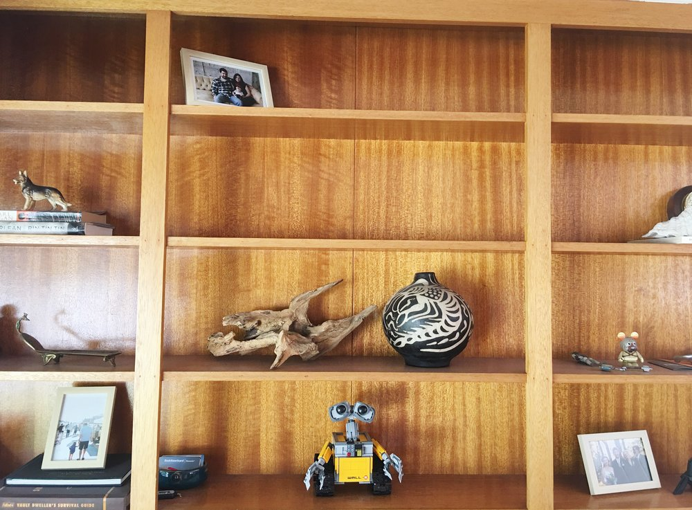 Patrick has added Lego Wall-E to the office shelves. I don't know who enjoys this more–him or Caroline.