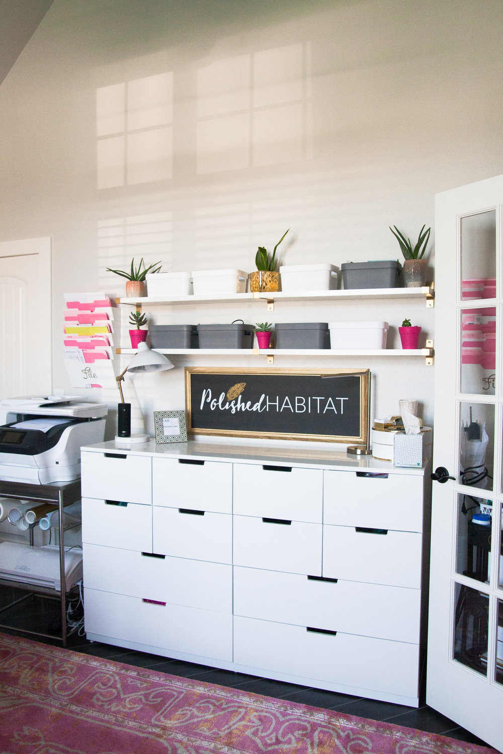 polished habitat office organization