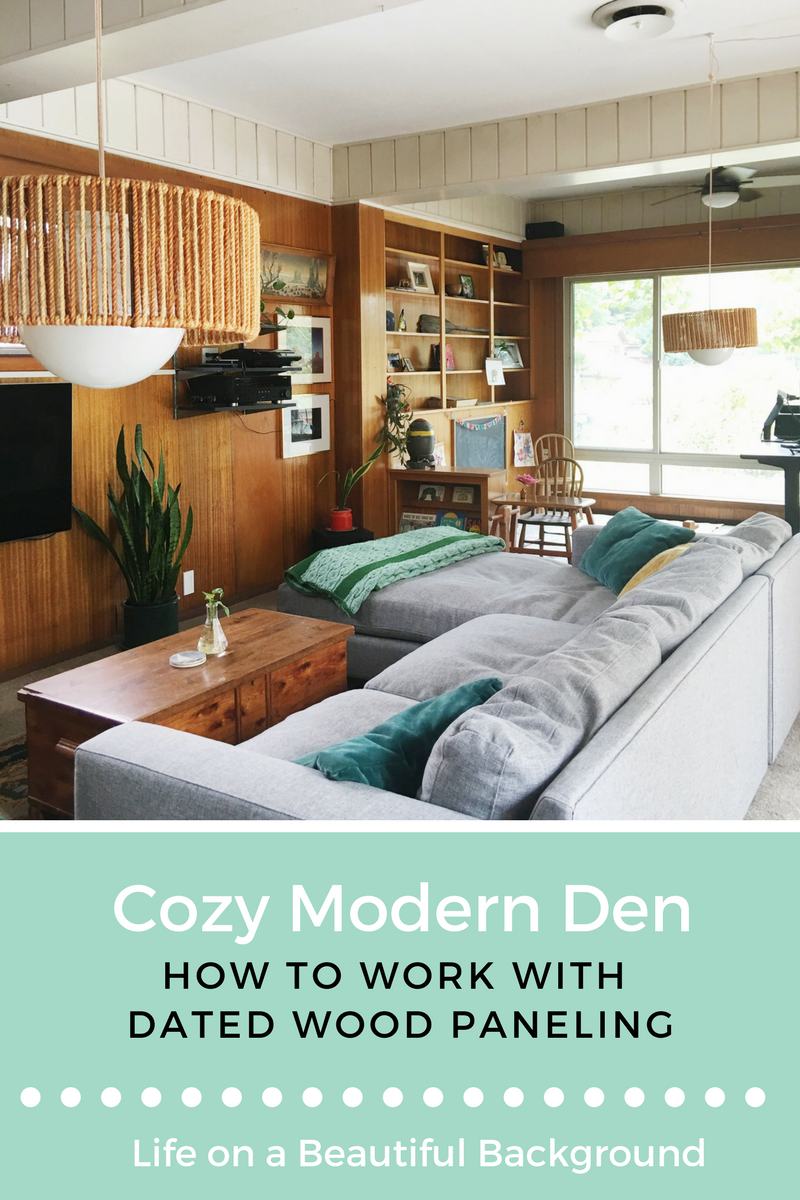 how to work with dated wood paneling