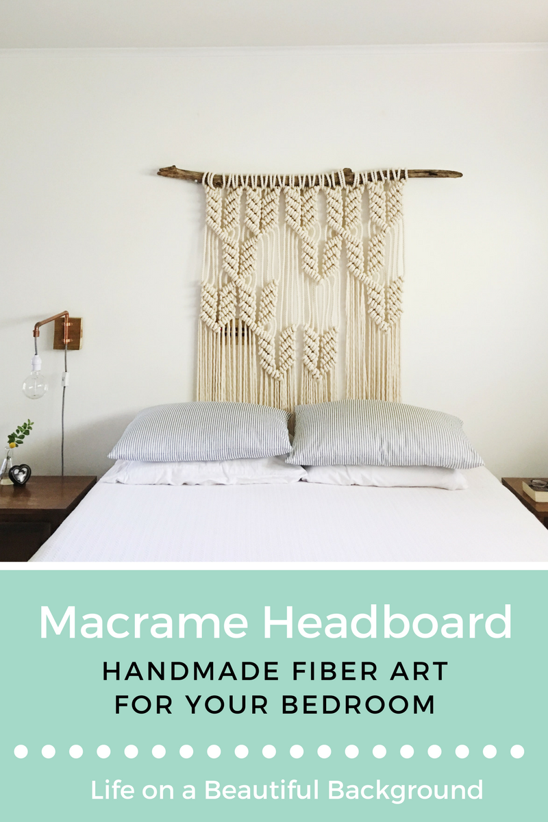 macrame headboard + fiber art for the bedroom