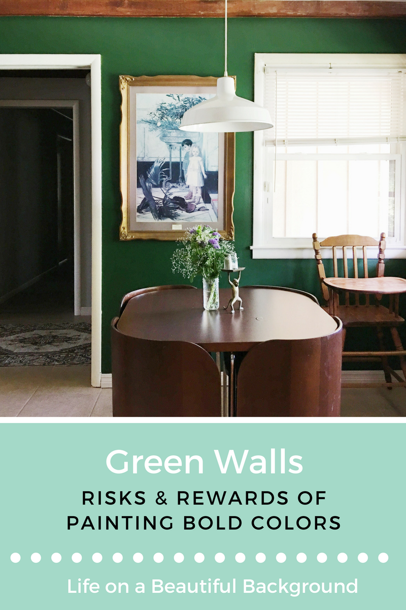 green walls + bold paint colors