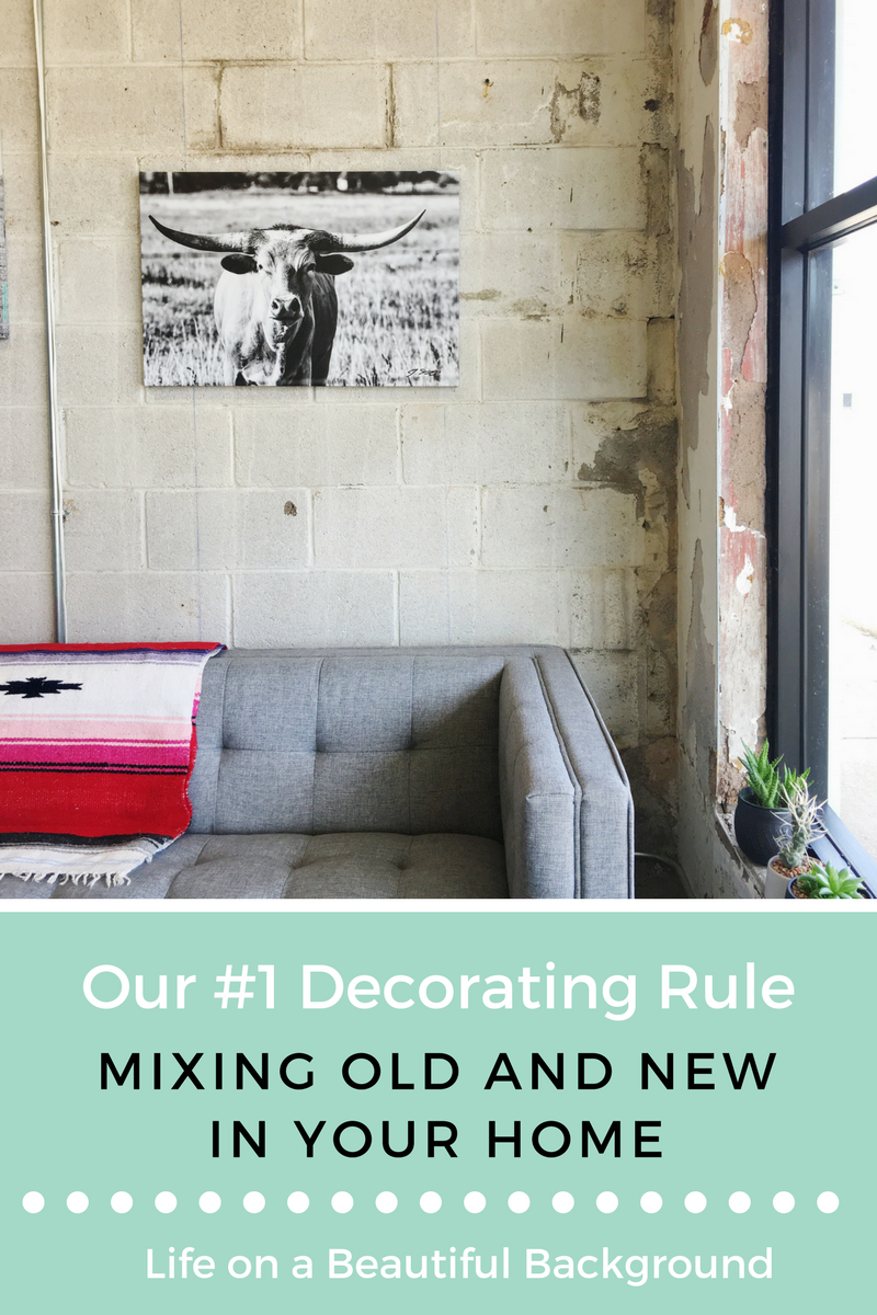 Mixing old and new in your home
