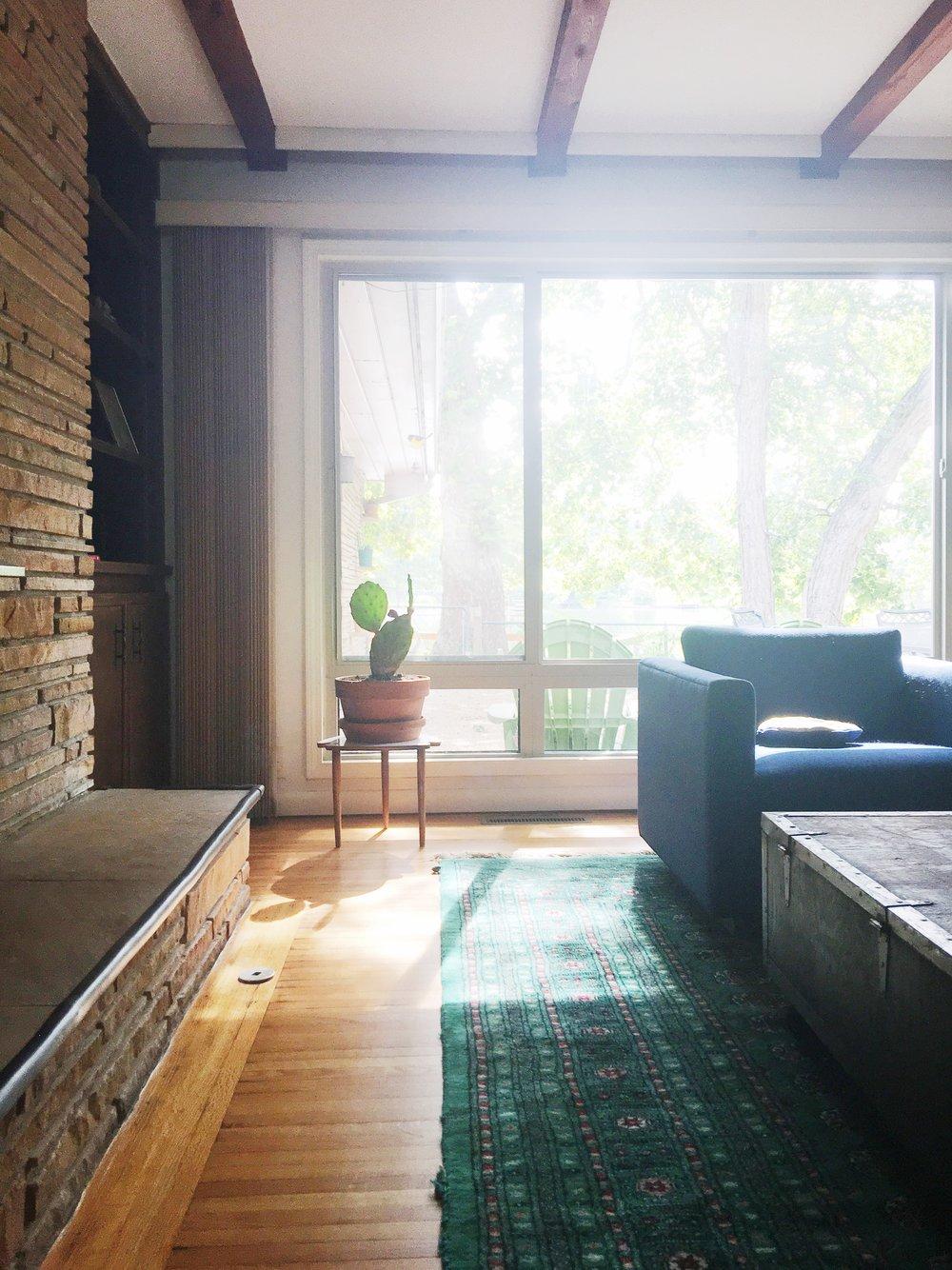 vintage green rug