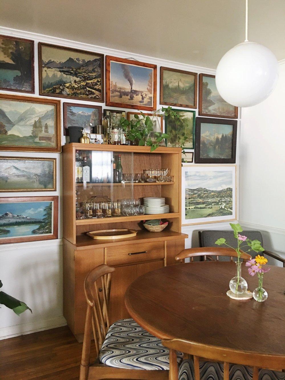 landscape gallery wall