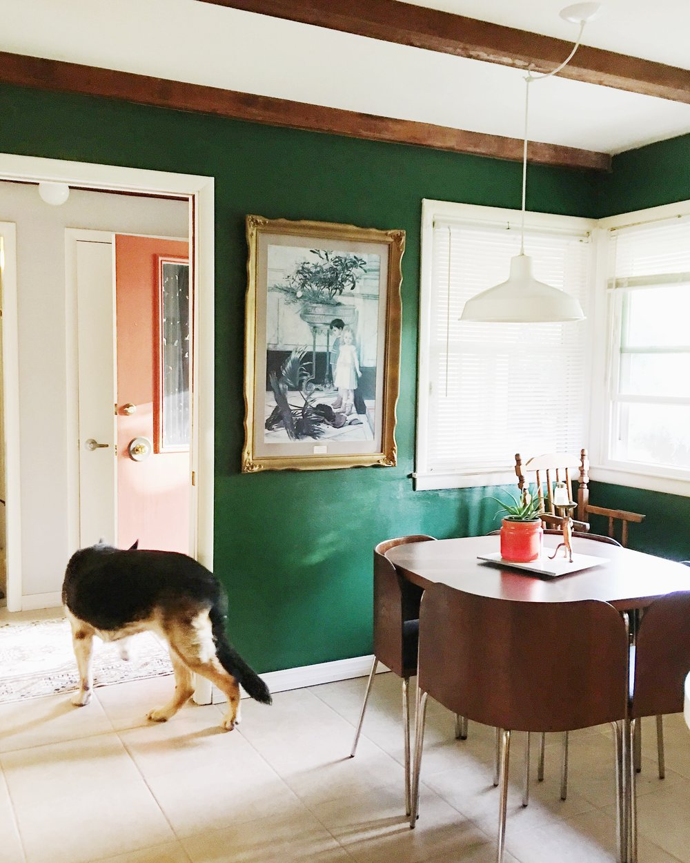 Before: The walls were green, but everything else is so different!