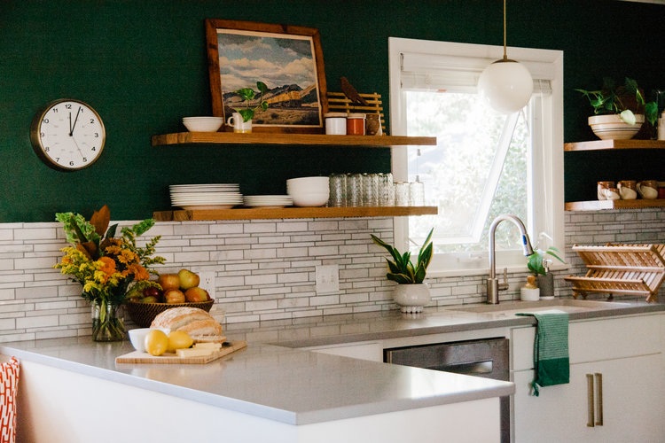 Colorful Vintage Modern Kitchen Renovation In Tulsa Ok Retro