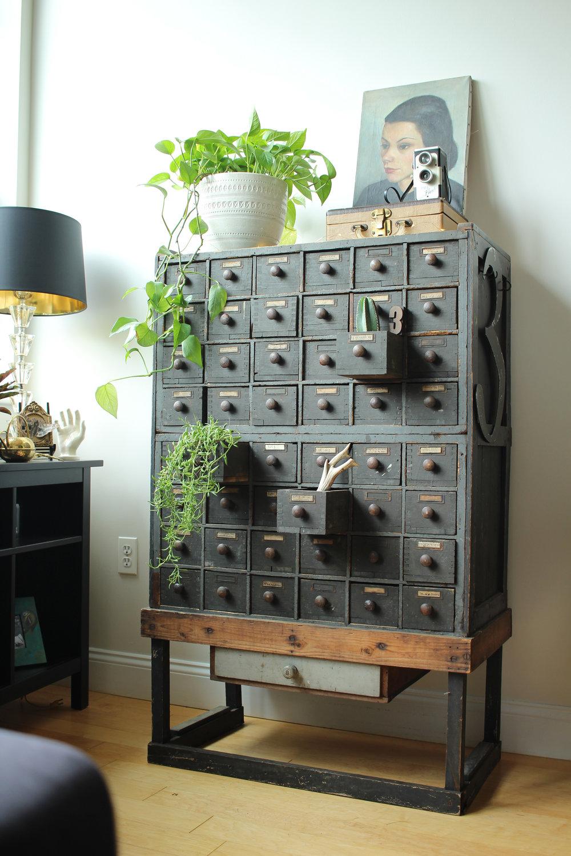 Karen's gorgeous vintage drawers.