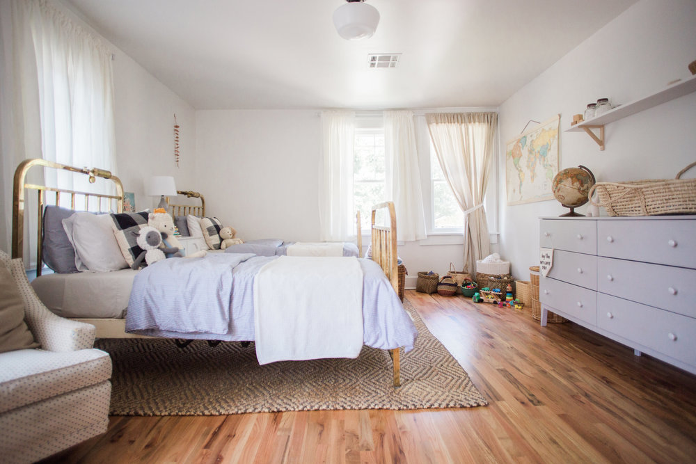 We worked with client Emily Netz  to style her boy's room  // Photo credit:  Melissa Click Photography