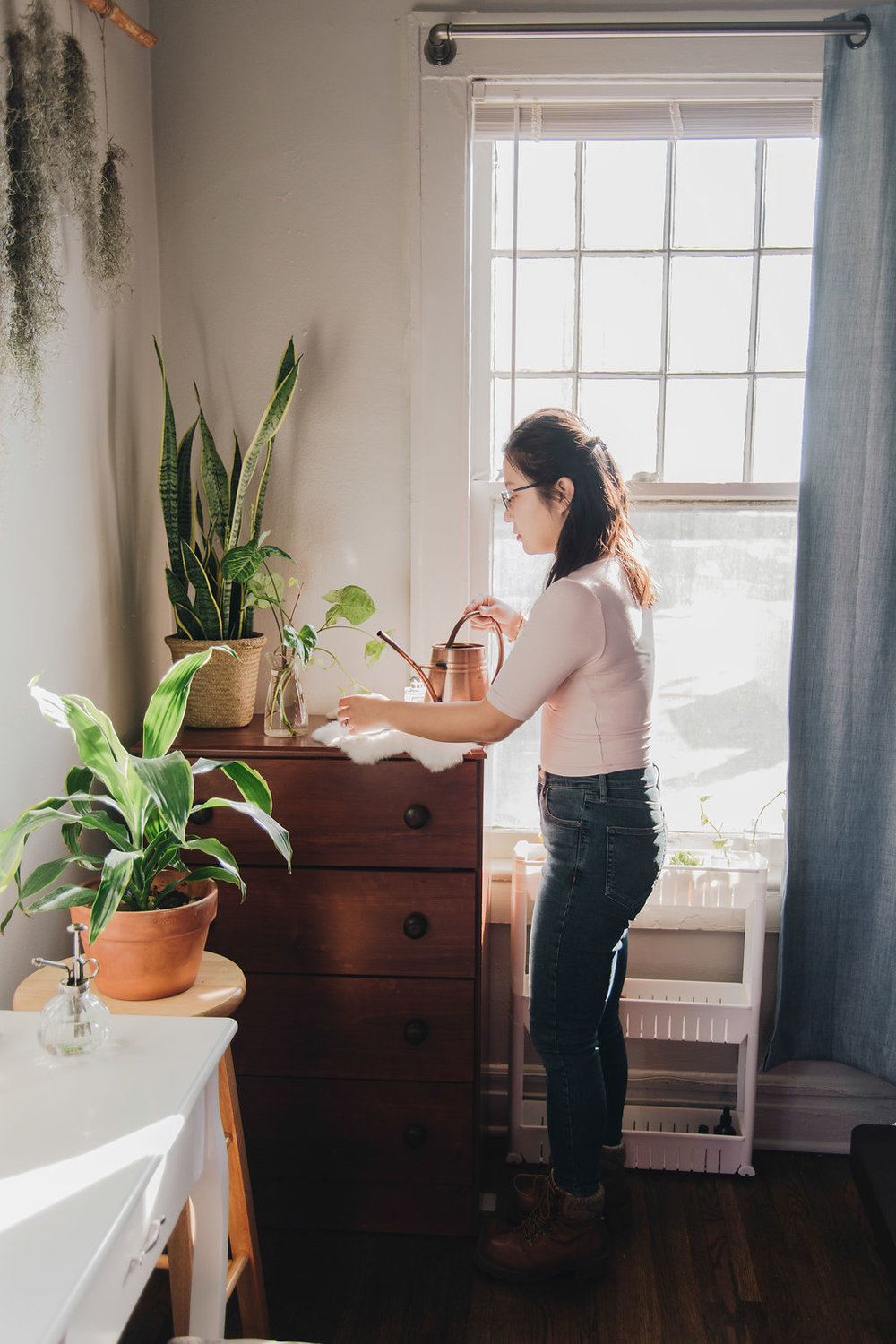 Chuyi's goal is to turn her apartment into a jungle. We feel she's making great progress.