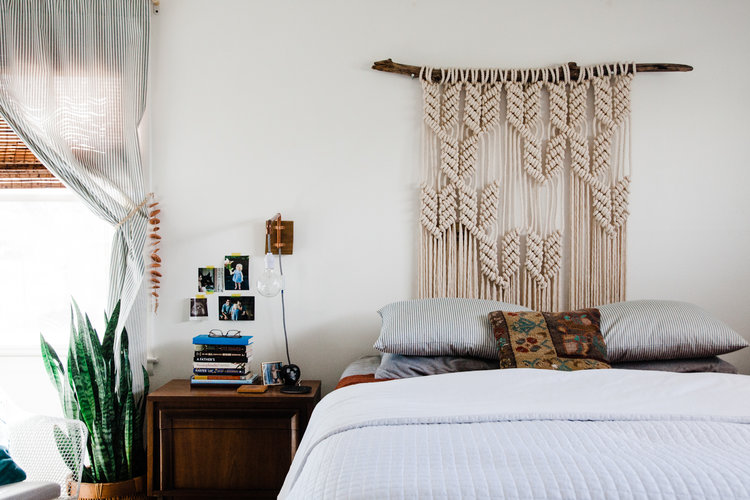 The Perks Of Decorating Slowly Palmer S Neutral Boho Bedroom