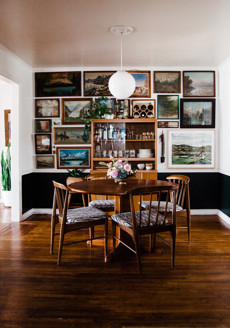 how to create a vintage landscape gallery wall retro den