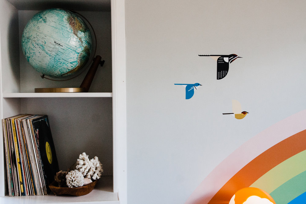 Last week we had the pleasure of photographing a container home near Tulsa. Here's a little sneak peek of one of the children's bedrooms. Look at those colorful little bird decals! We can't wait to share the full tour with you later!