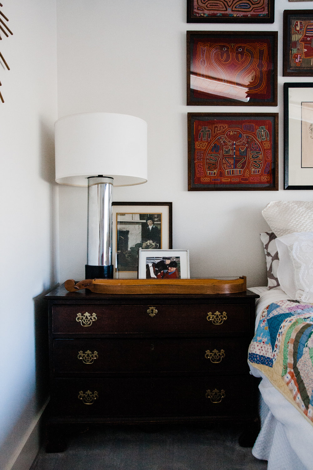 Guests could now use this smaller dresser for storage if needed, making the larger dresser on the opposite wall unnecessary.
