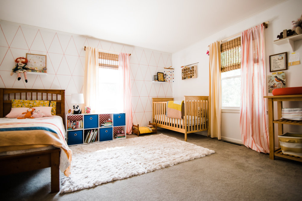 shared toddler + baby room