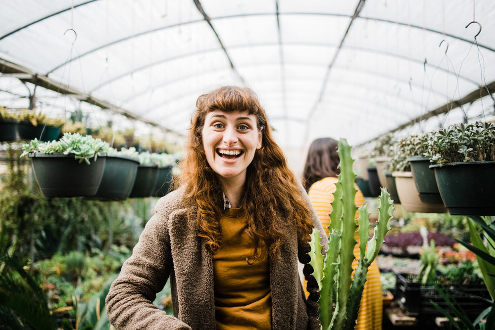 Rachel, one of our sweet plant-collecting customers.