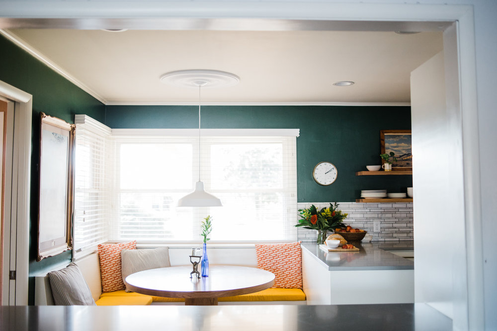 creating a built in banquette or bench seating for a kitchen rh retroden com kitchen nook dining set upholstered bench style seating