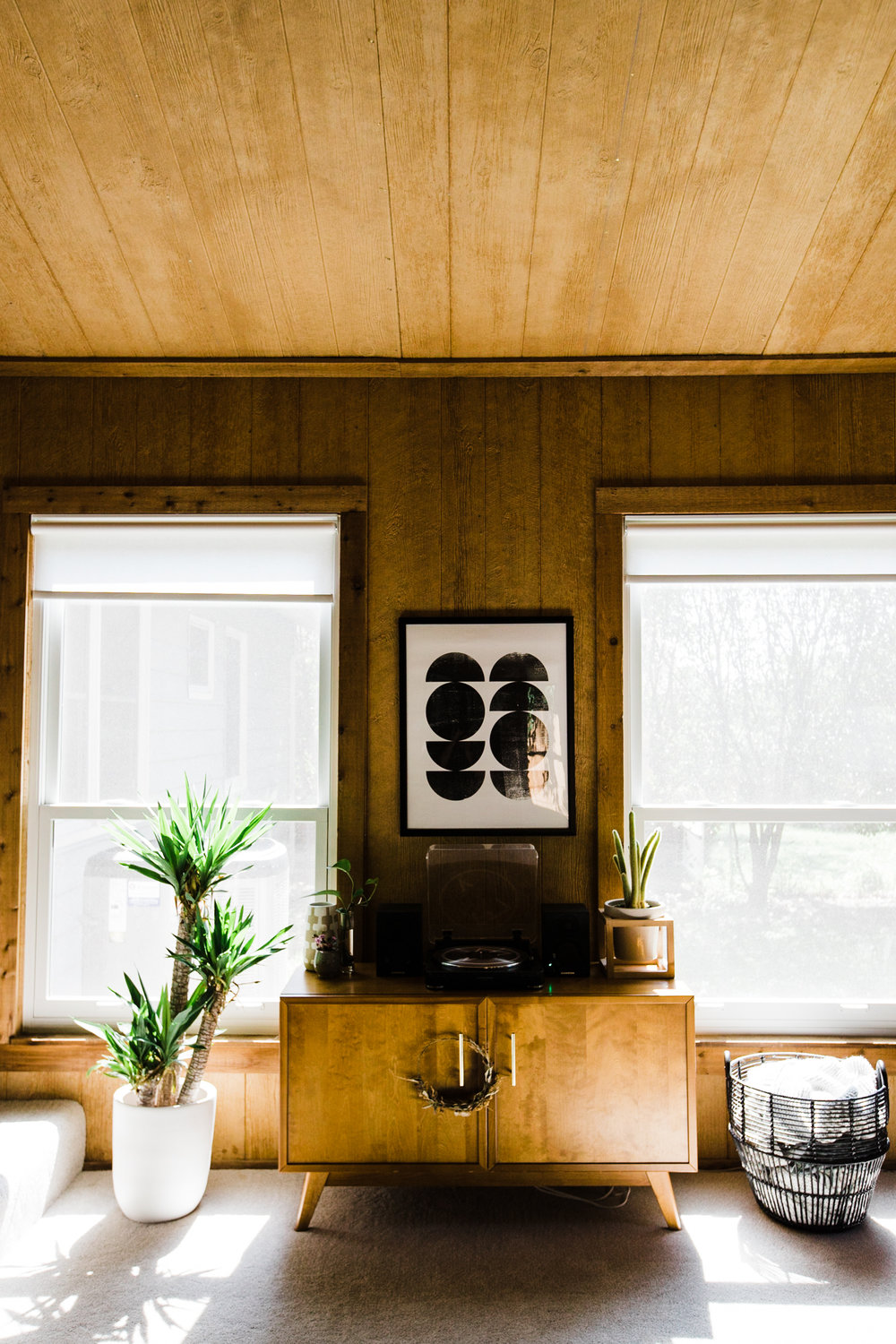We took photos of our employee Holly's home earlier this week! It is gorgeous and so exciting! We can't wait to share her home tour with you soon! Also... see this for some wood paneling inspiration.