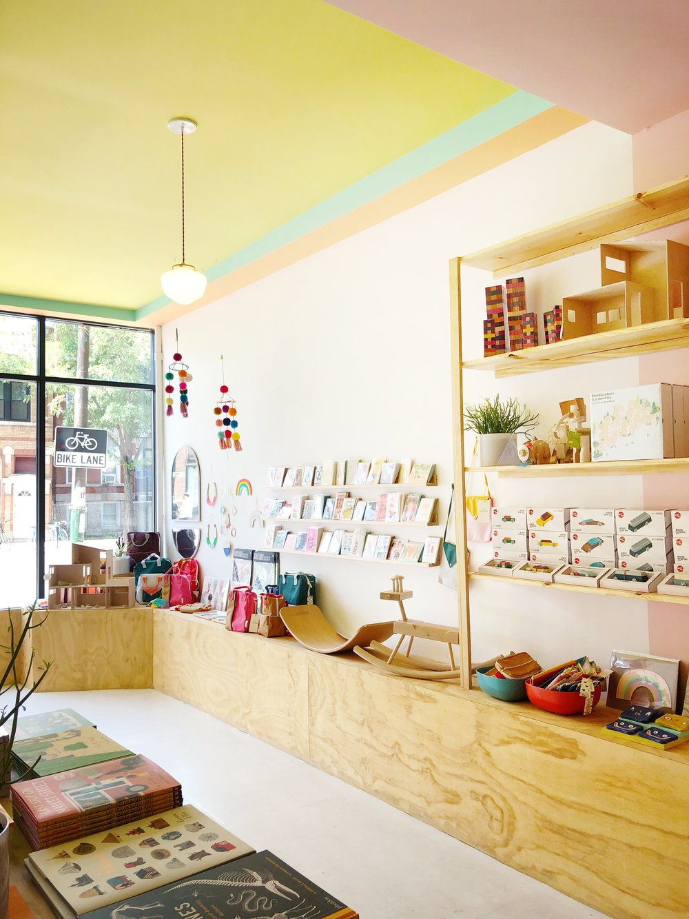 Something about traveling really opens up your mind. I love this sweet toy store, Peach Fuzz, we visited in Chicago's Humbolt Park. Those colors are so delicious!