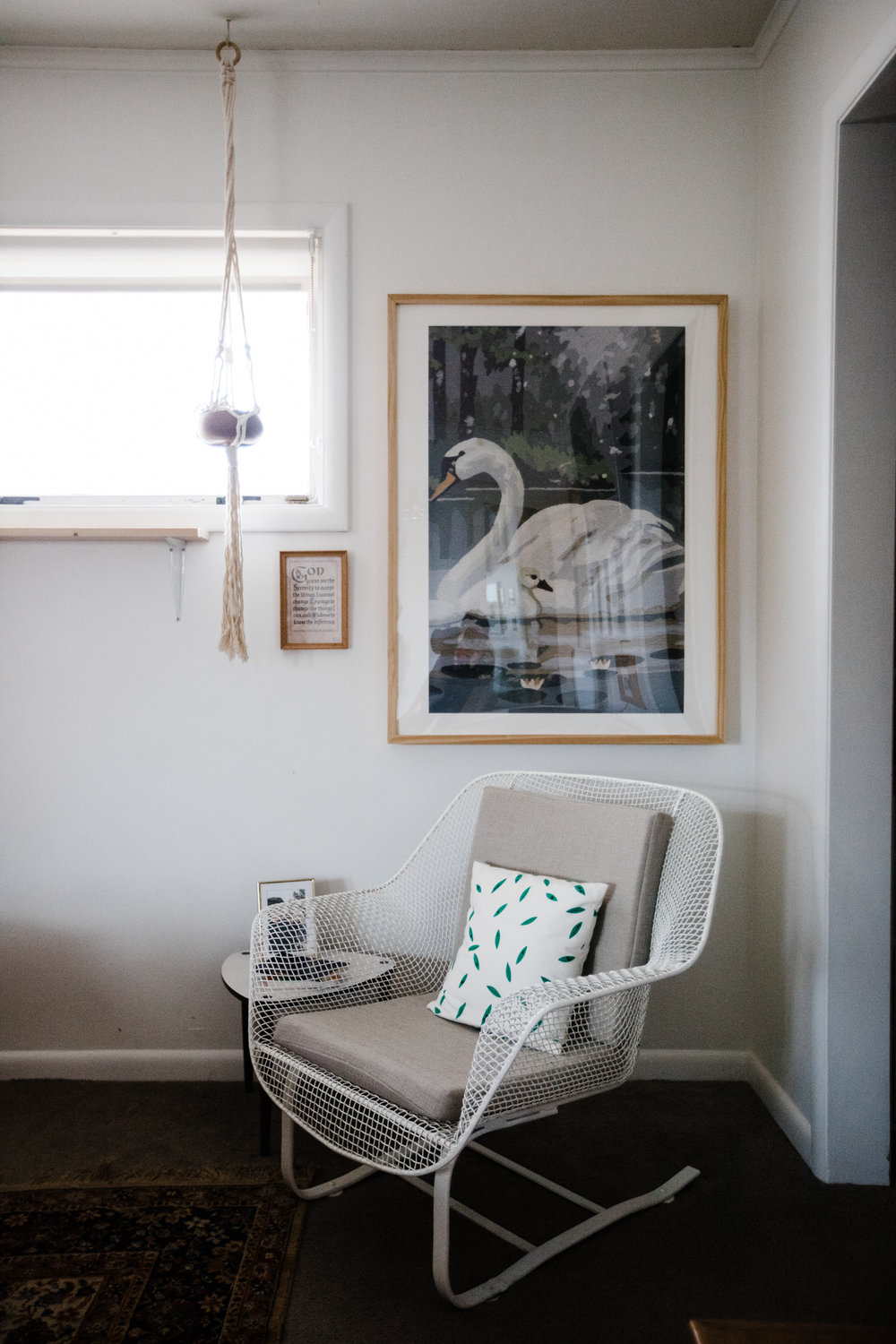 Chair credits: cushions by    Janie's Upholstery    // pillow by    Owl & Drum