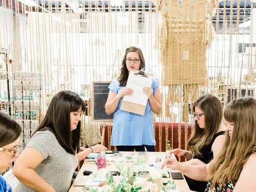 Calligraphy Classes! - Whitney Wade of Laurel & Marie teaches the most lovely calligraphy workshops!