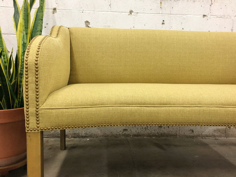 """The settee's new owner said it best, """"Thank you for all the hard work and care you put into turning this Old Lady into a Roaring Young Thing again."""" You're sure welcome."""