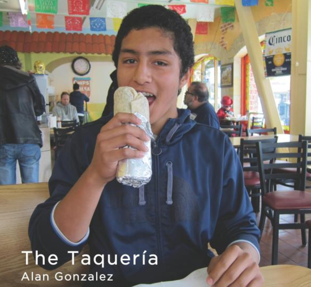 The Taqueria   Join Alan Gonzalez on a trip to El Super Burrito, his favorite restaurant in San Francisco. Read along and enjoy the sights, smells, and tastes of The Taquería.   Buy this book.