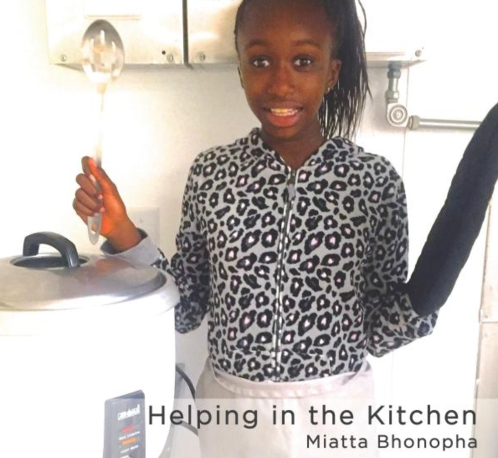 Helping in the Kitchen   Miatta Bhonopha likes to cook with her mom. She enjoys eating cassava leaf soup with her family. Learn why Miatta loves helping in the kitchen!   Buy this book.