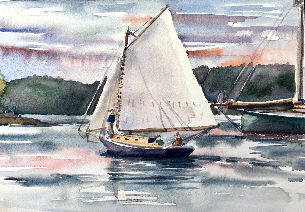 Evening sail-Southwest Harbor