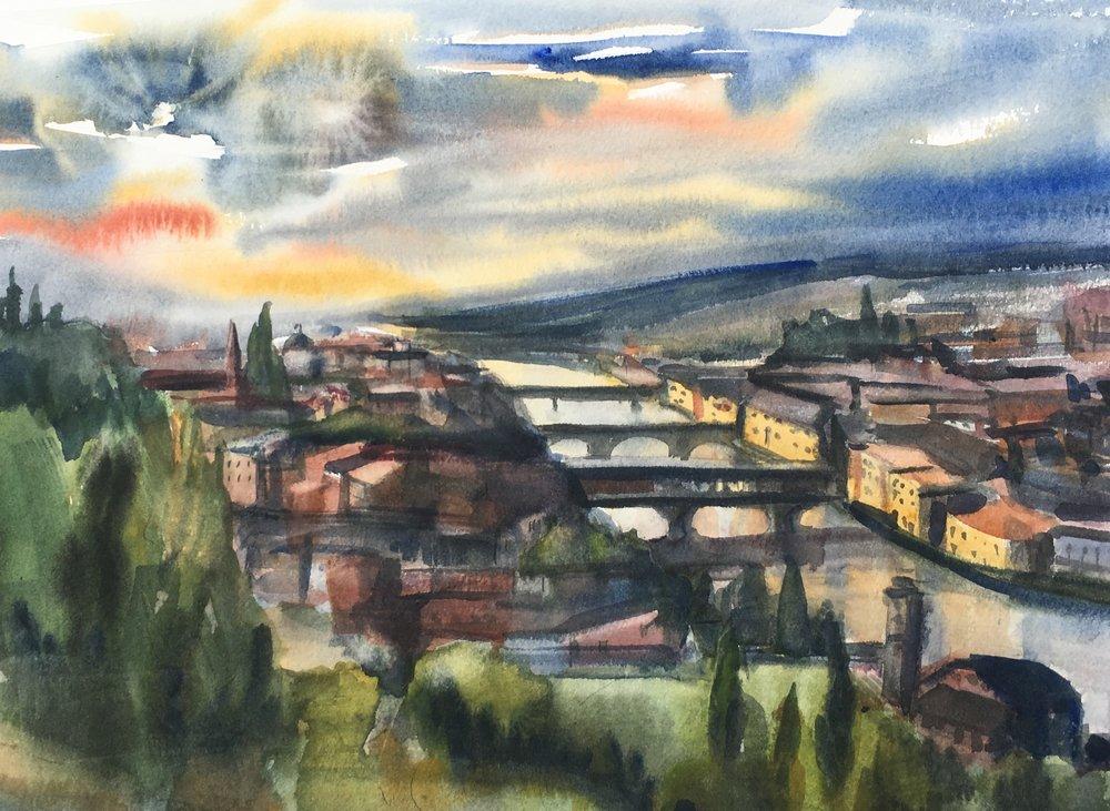 Dusk on the Arno